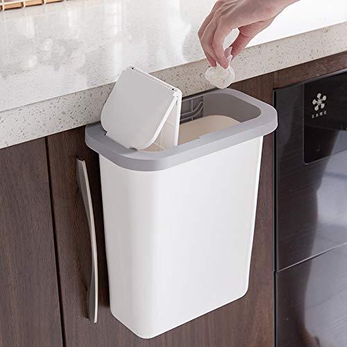 Lid Hanging Waste Bin, Trash Can For Kitchen Cabinet Door Wastebasket