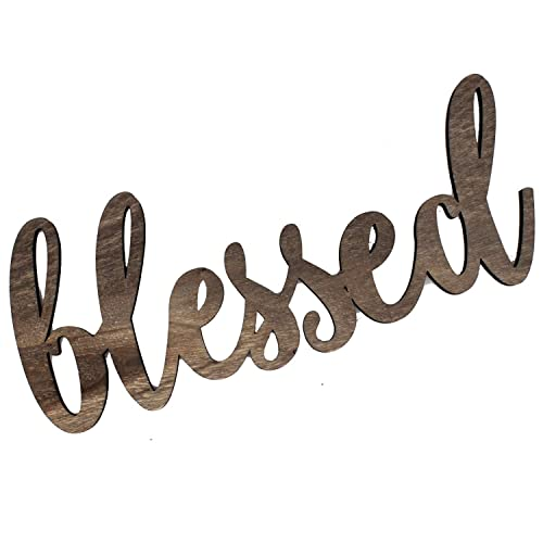 Buy Ku Dayi Blessed Cutout Wood Sign Home Décor Wall Art Decor Rustic Farmhouse Front Door Sign 12 Inch Long Online In Paraguay B07vd47sgw