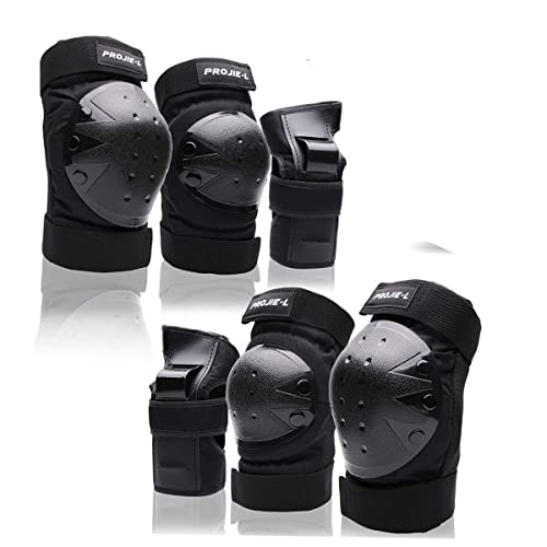 Details about  /6 Pcs Adult Roller Skating Bicycle Knee Wrist Guard Elbow Pad Adjustable