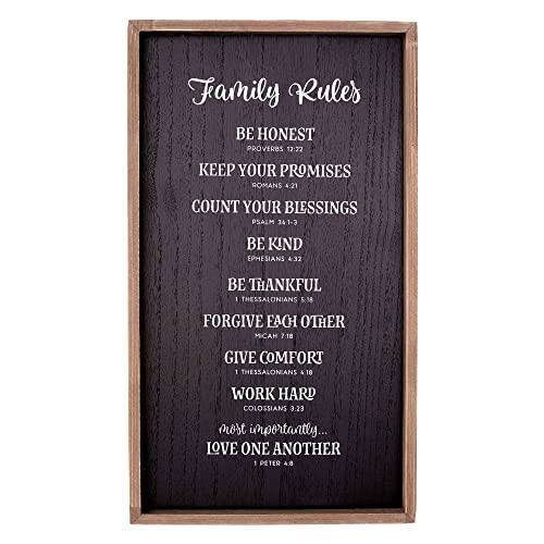 Buy Christian Art Gifts Family Rules Wall Plaque Scripture References Online In Paraguay B07m5h9x9c