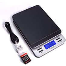 Includes AC Adapter 1.5Vx3AAA 66lb Postal Scale with Hold and Tear Function Gram//Ounce//Pound Mail Postage Scale for Shipping Packages MUNBYN Digital Shipping Scale