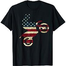 Motocross Dirt Bike Tshirt American Flag Gift Brap Shirt Dad T-Shirt